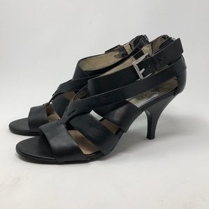 Michael Kors Black Strappy Heel Sandals size 9.5